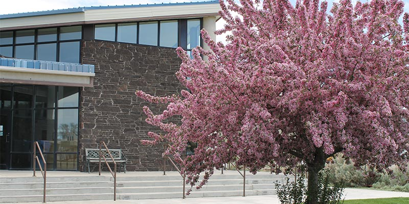 Bannock County Historical Museum exterior in Spring