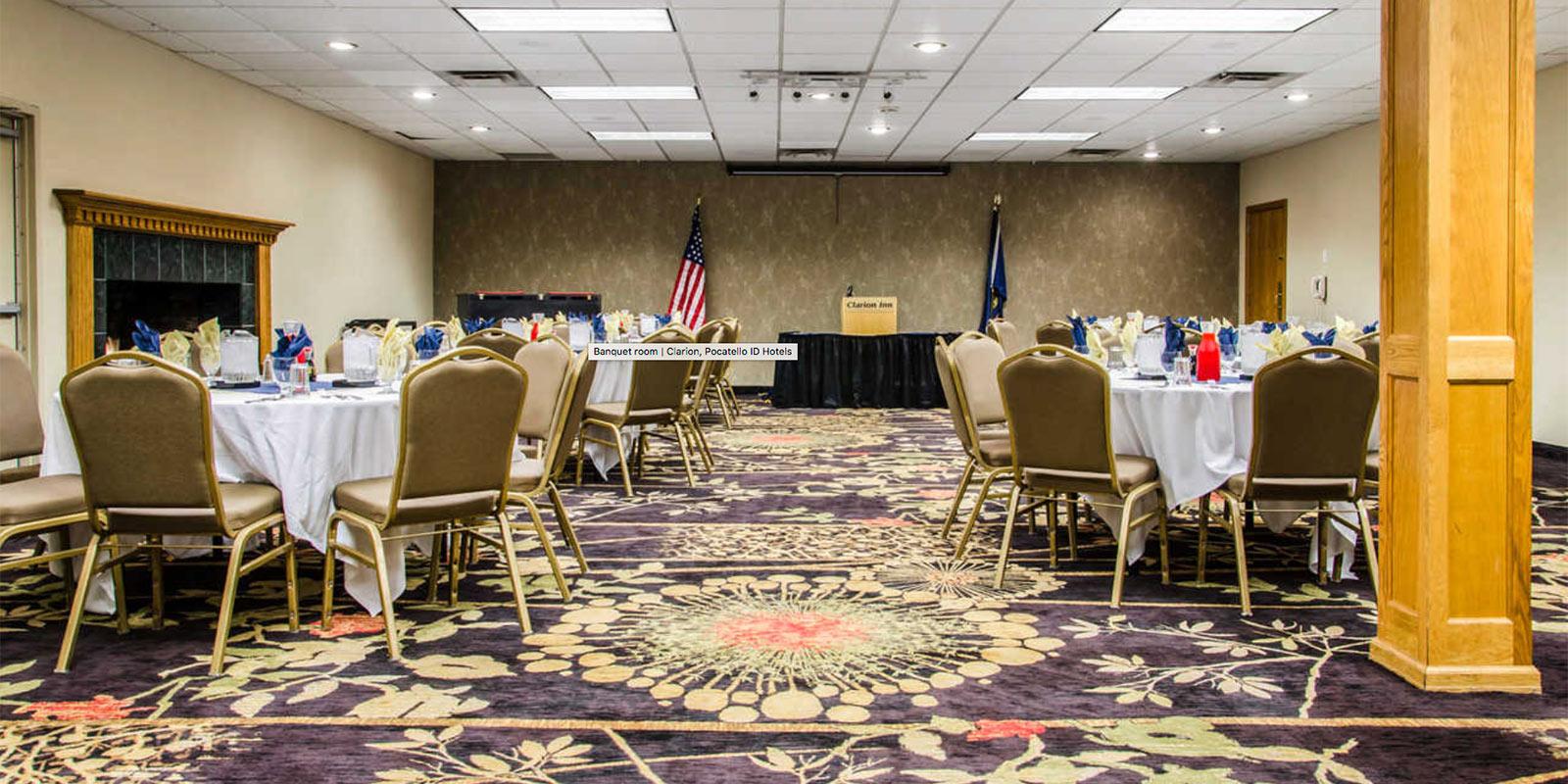 image: clarion inn pocatello banquet room