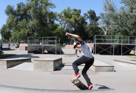 image: skateboarder Pocatello skate park