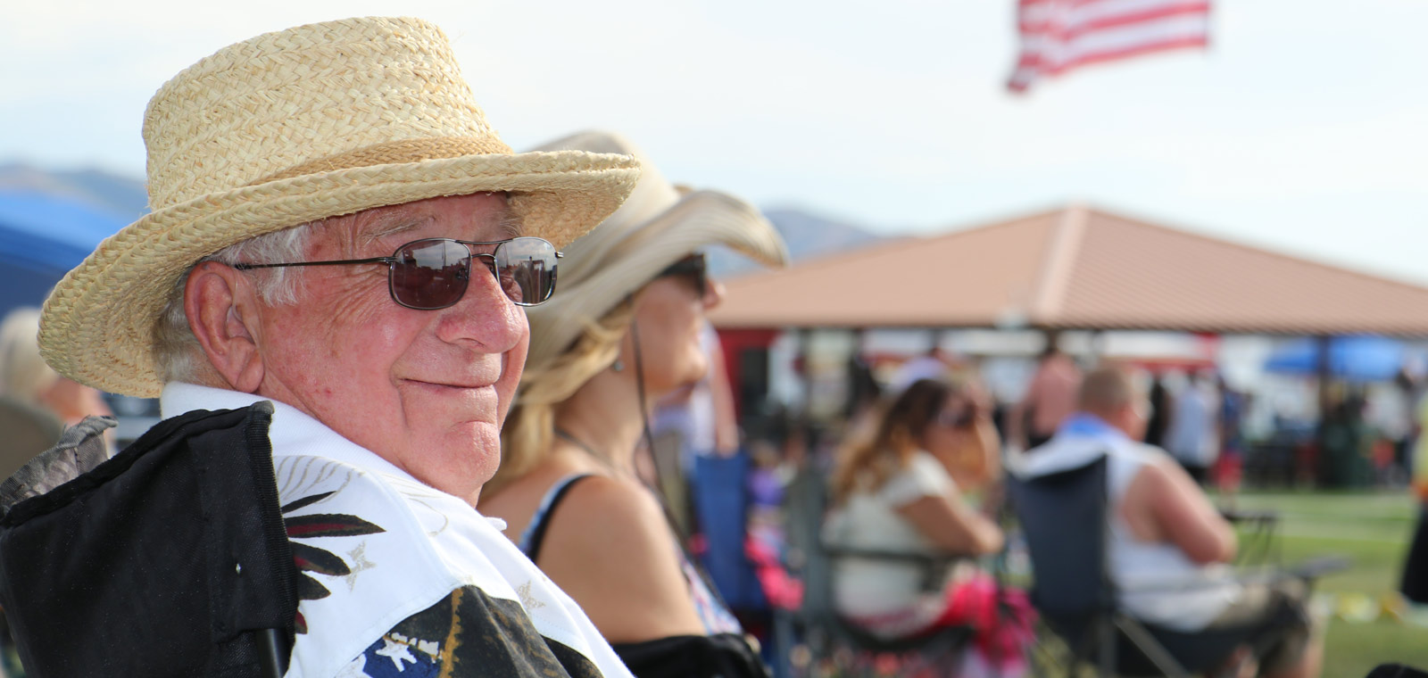 image: man at fairgrounds