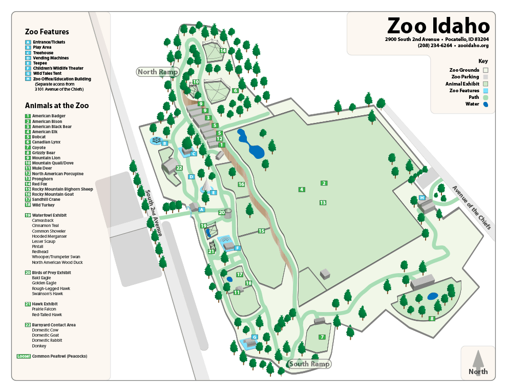 Zoo Idaho Map
