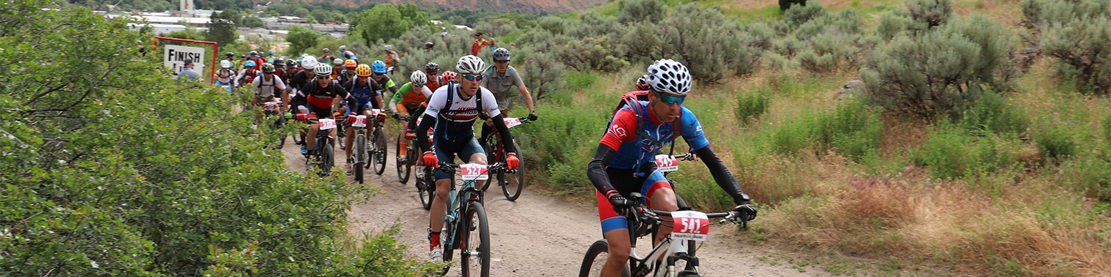 mountain bike race above Pocatello