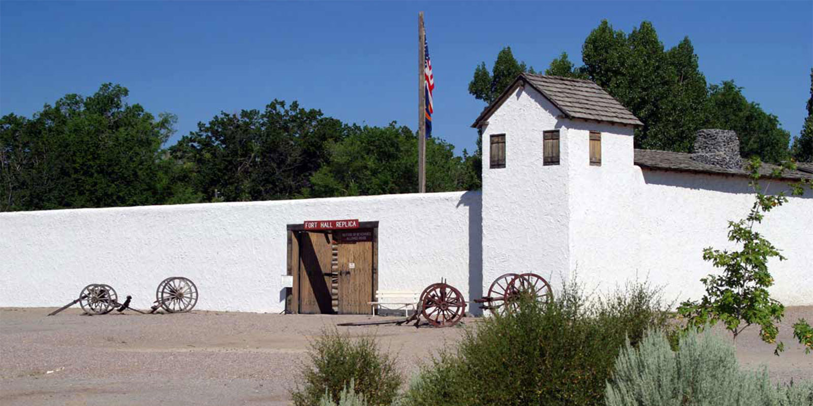 image: Fort Hall Replica entrance wide