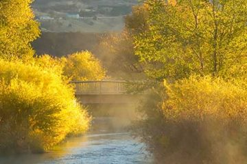 image: Portneuf river and bridge edson fichter