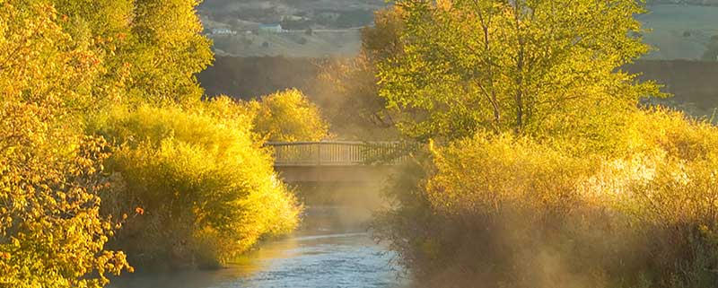 image: Portneuf river and bridge edson fichter