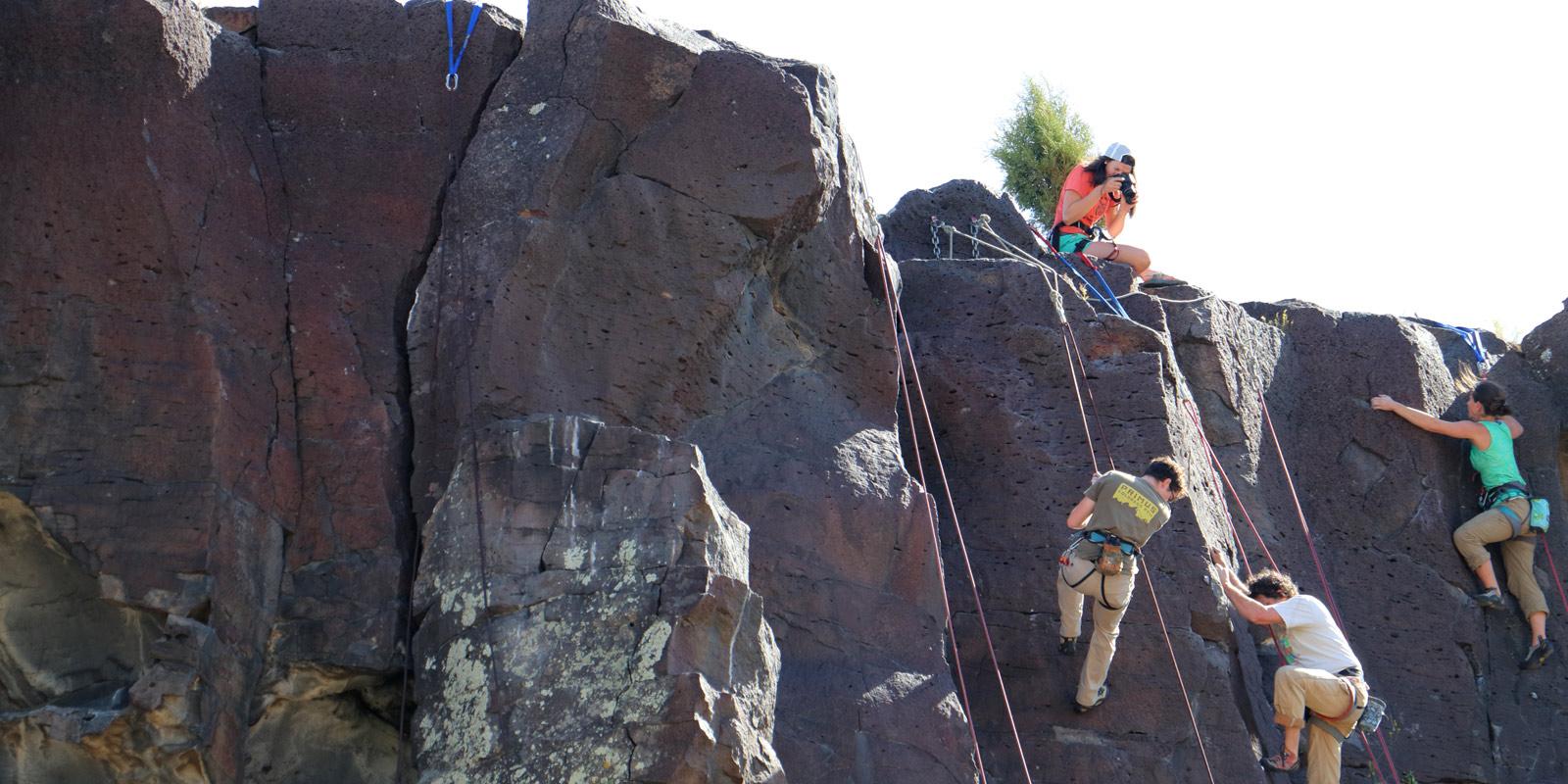 image: Pocatello Pump climbers