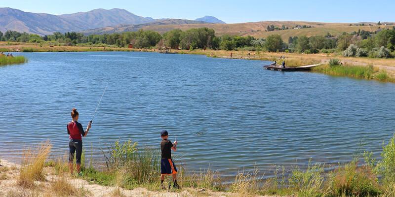 fishing at Edson Fichtor Pond