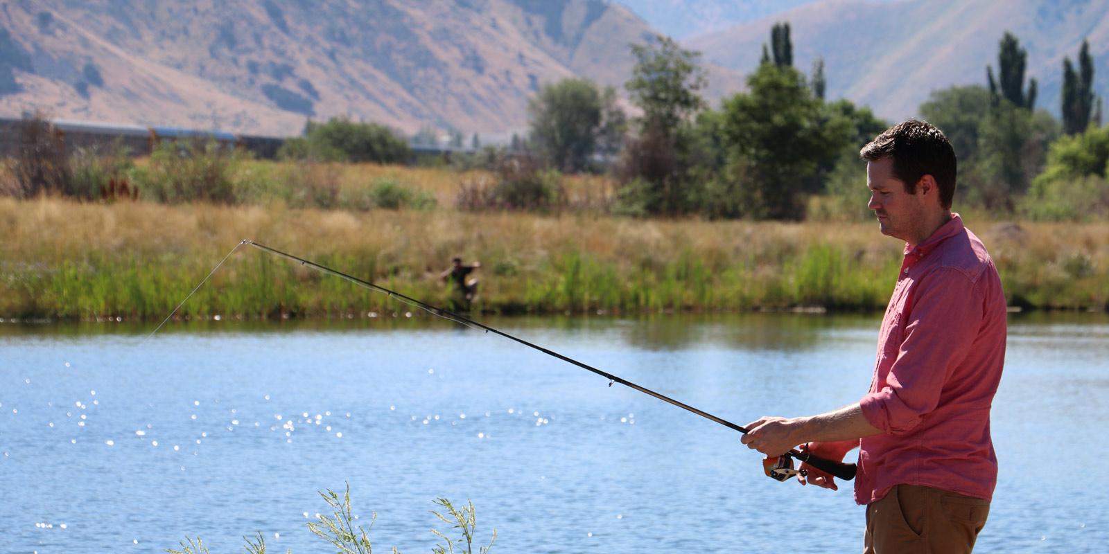 image: man fishing