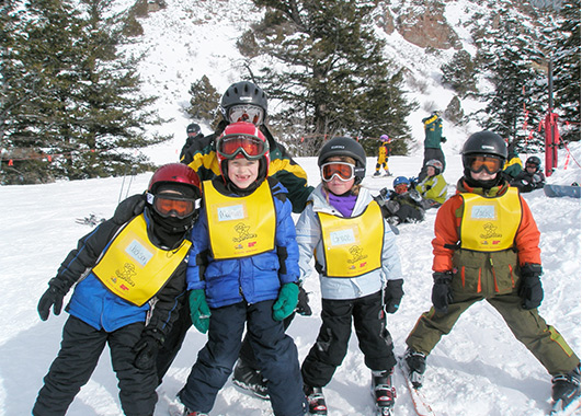 Ski School class at Pebble Creek