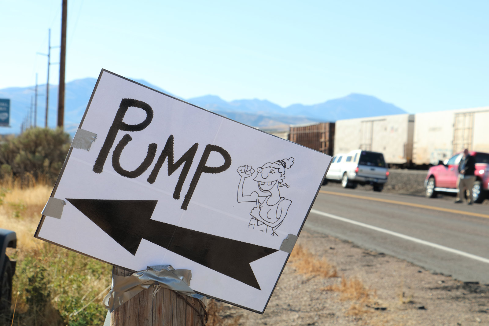 image: sign for Pocatello Pump