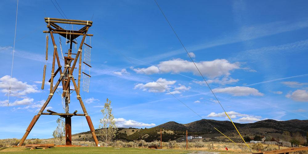 image: rope challenge course landscape
