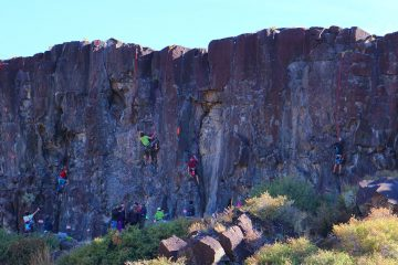 Sunny Side cliffs during Pocatello Pump