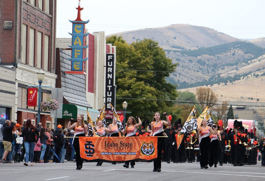 image: downtown street parade, Pocatello, Idaho