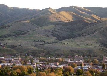 image: Overlooking Pocatello, Idaho