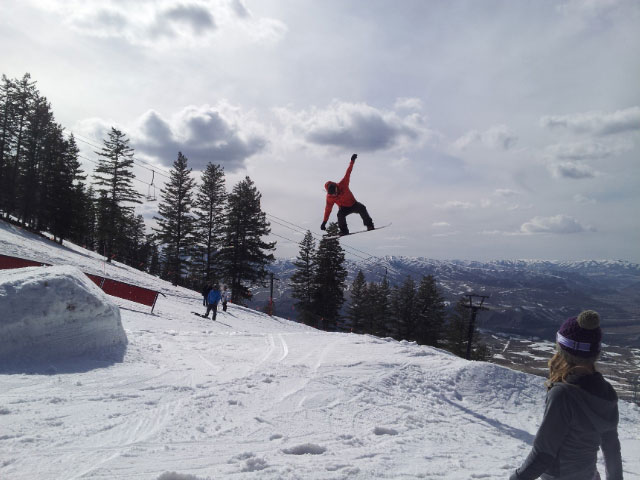 image: snowboarder in air