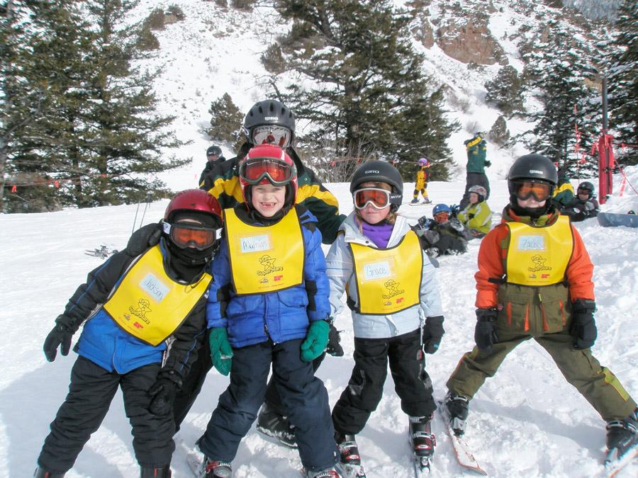 image: young ski student