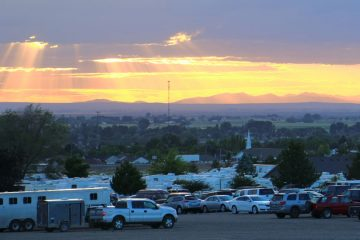 image: sunset over RV Park