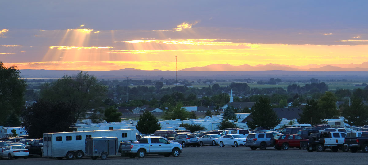 image: sunset over RV Park
