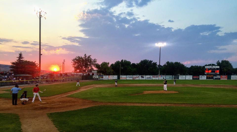 image: Gate City Grays game at sunset