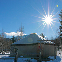 Yurt at the Nordic Center