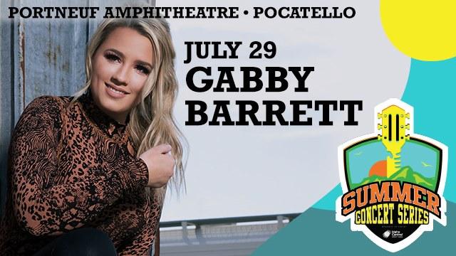 Gabby Barrett Live At Portneuf Amphitheatre, Pocatello!