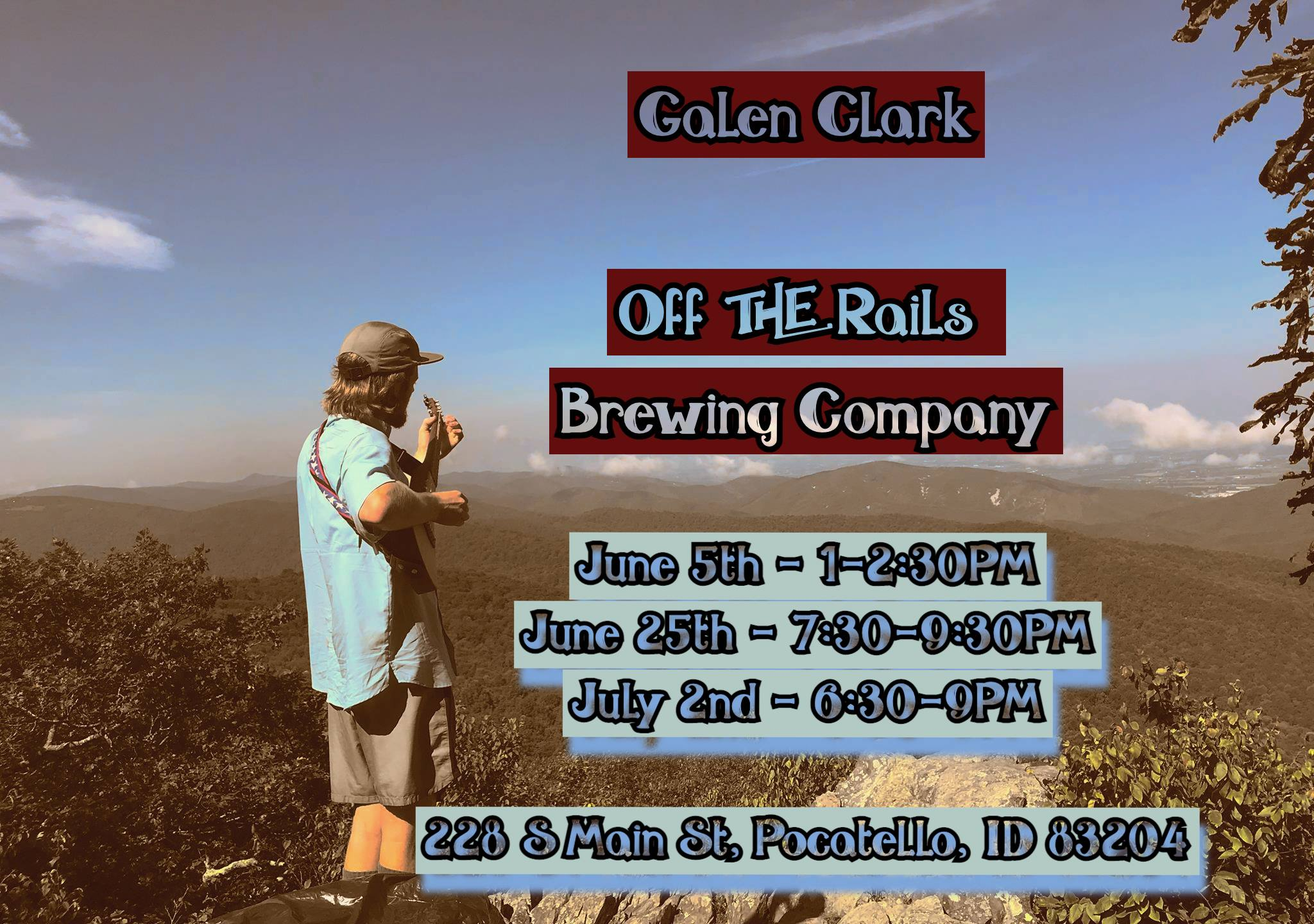 Galen Clark Live at Off The Rails Brewing Company