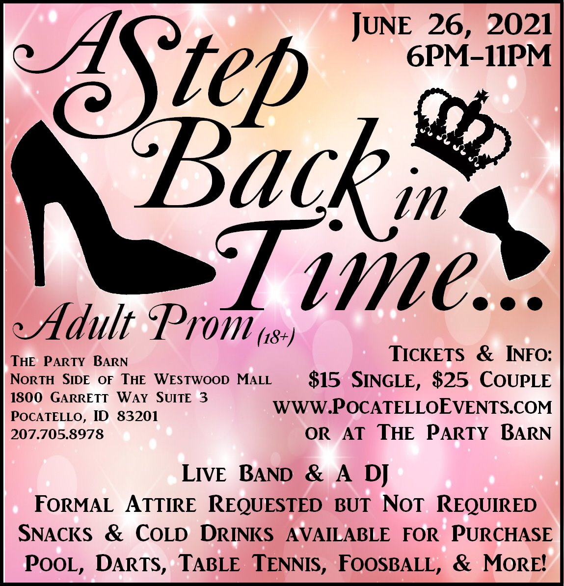 A Step Back In Time ~ Adult Prom
