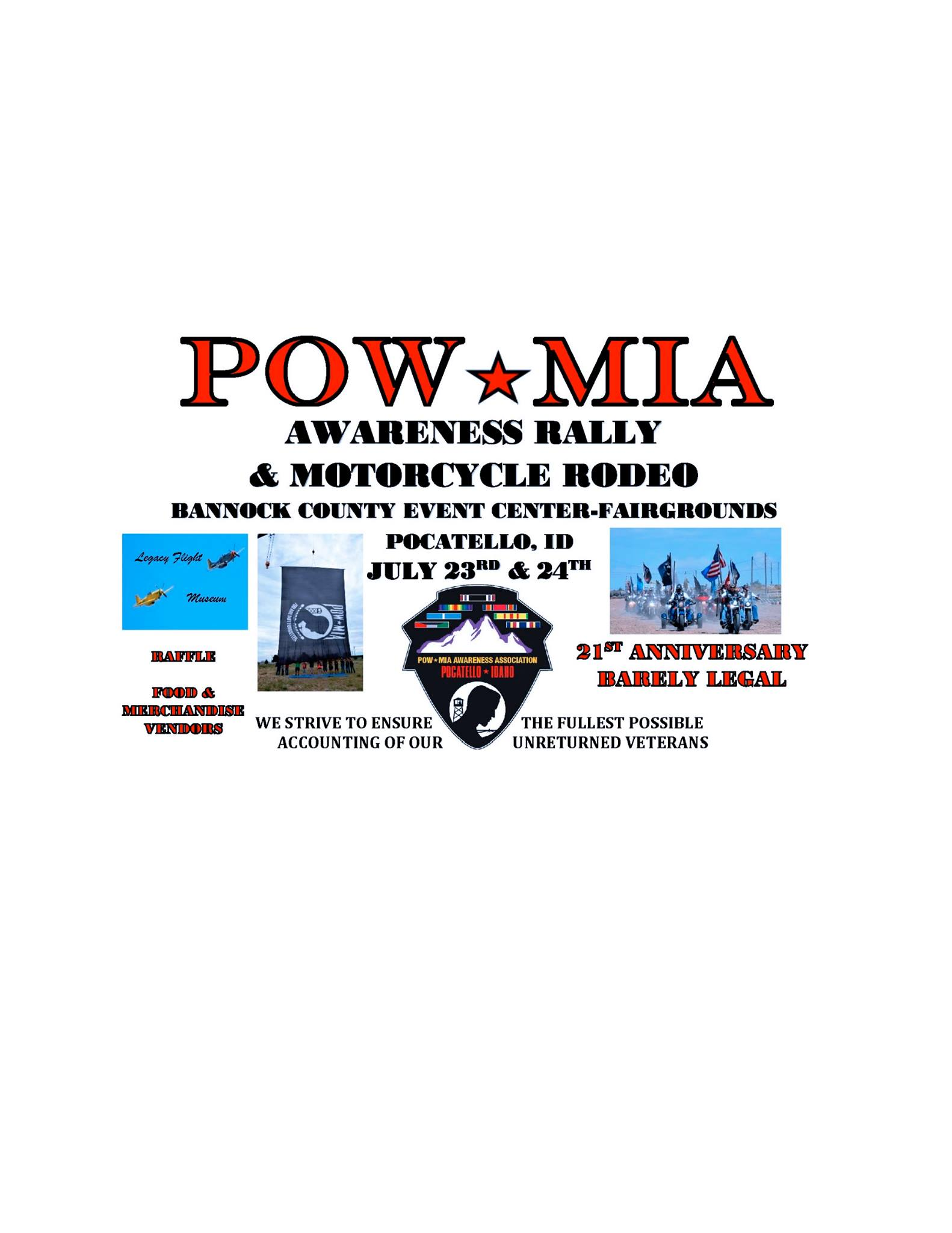21st Annual POW*MIA Awareness Motorcycle Rodeo and Rally